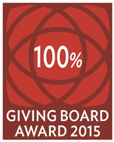 Logo for board that gives 100%
