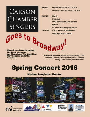 Photograph of Carson Chamber Singers' flyer