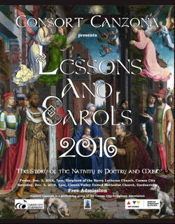Poster for Lessons and Carols 2016
