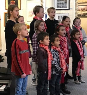 Photograph Joyful Noise Carson Children's Choir in performance at NAA Gallery.