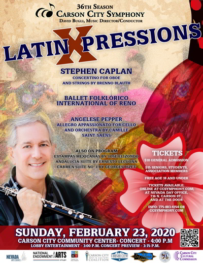 Poster for LatinXpressions concert on Feb. 23, 2020.