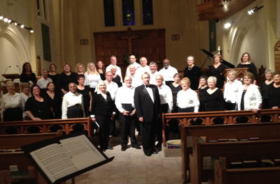 Photograph of Carson Chamber Singers performing at Trinity Episcopal Church in Reno