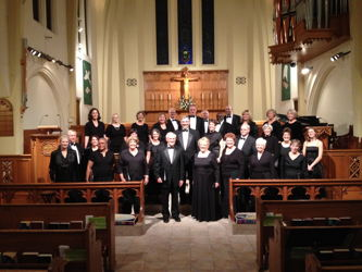 Photograph of Carson Chamber Singers at Trinity Episcopal Church, Reno