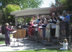 Photograph of Carson Chamber Singers at the Governors Mansion