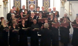 Photograph of Carson Chamber Singers performing in St. Peter's Episcopal Church.