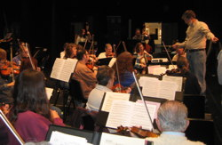 Photograph of CC Symphony in rehearsal at the Community Center, Dec. 2010