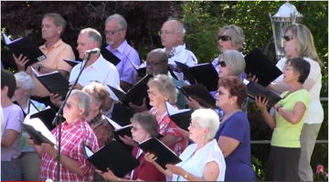 Photograph of Carson City Symphonhy Chorus at Governor's Mansion, June 2014