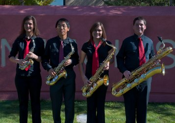 Photograph of Carson High School Saxophone Quartet