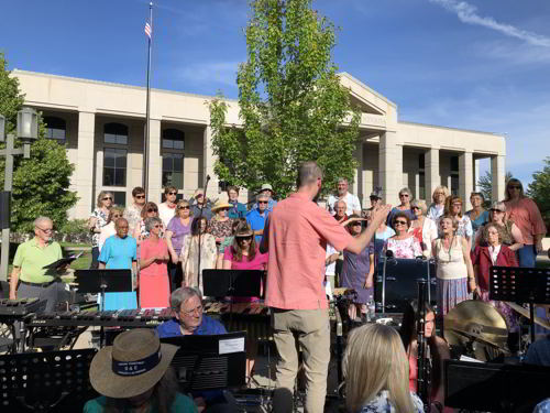 Photograph of Carson City Symphony Chorus with Interim Director Ricky Hutton