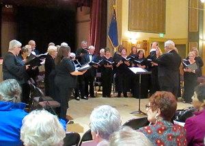 Photograph of Carson Chamber Singers at CVIC Hall in Minden, April 2016