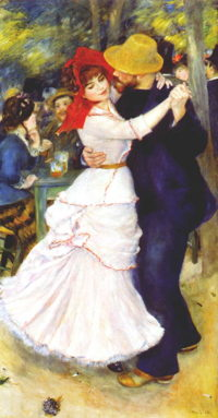 Dance at Bougival by August Renoir