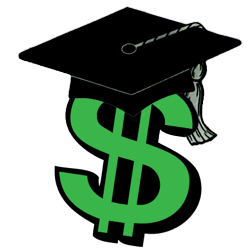 Image of dollar sign and mortarboard courtesy of clipartpanda.com.