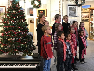 Joyful Noise performing at Nevada Artists Association Gallery, Dec. 2, 2017
