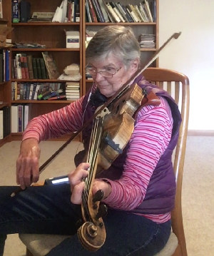 Image capture of Kay recording 'Hank Monk Schottische' viola part