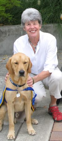 Image of Lin Nelson   with a canine companion