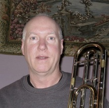 Image of    Paul Jorgensen on trombone