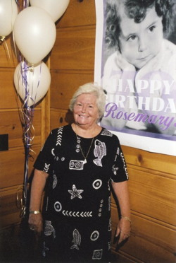 Picture of Rosemary on her 70th birthday