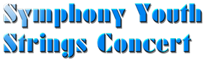 Symphony Youth Strings Concert logo.