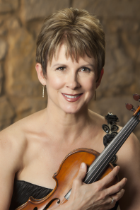 Photograph of violin soloist Stephanie Sant'Ambrogio