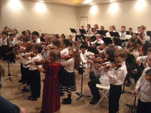 Photograph of Strings in the Schools, Dec. 2010 program